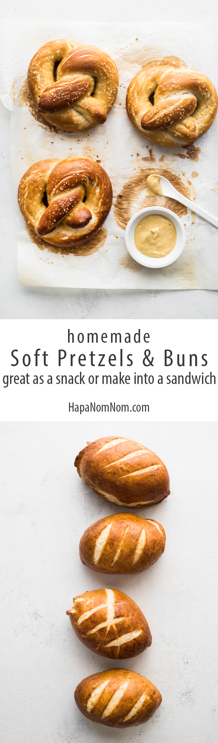 Homemade Soft Pretzels - A perfect snack or makes a great sandwich!