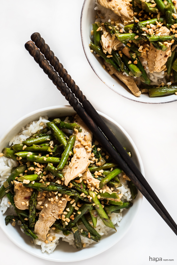 Lemongrass Chicken with Asparagus