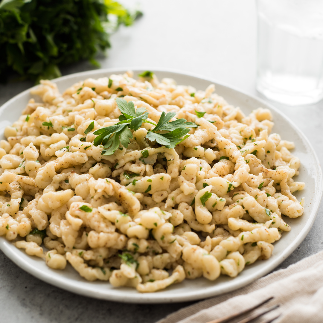 Homemade Spaetzle in Brown Butter -