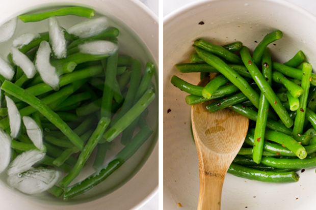 Green Beans Collage