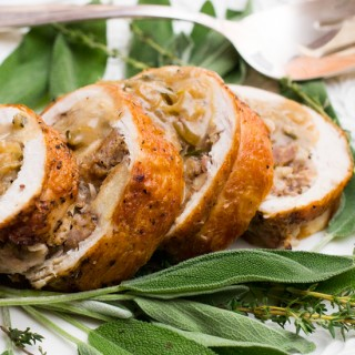 Turkey Roulade - Perfect for smaller table