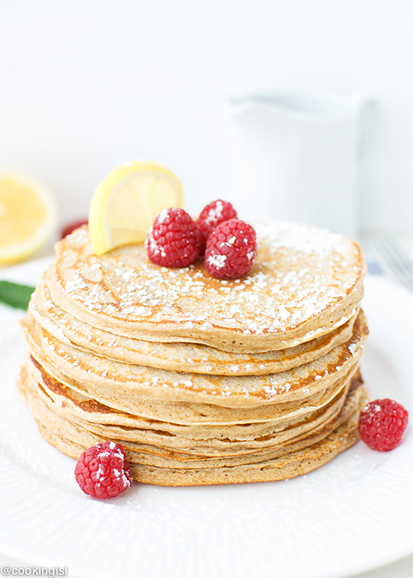 Lemon Curd Whole Wheat Pancakes by Cooking LSL