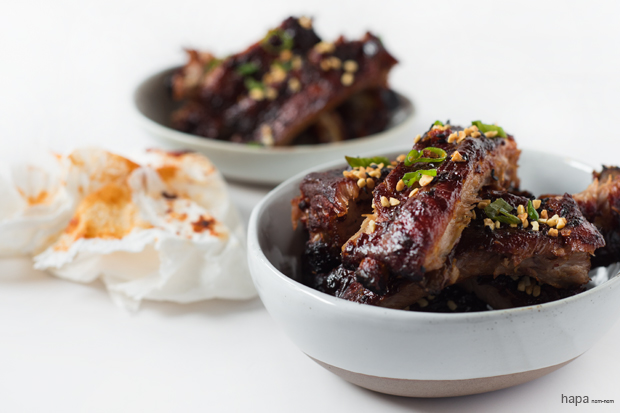Sticky, Spicy Pork Rib - they're fall off the bone good! And SO easy to make!