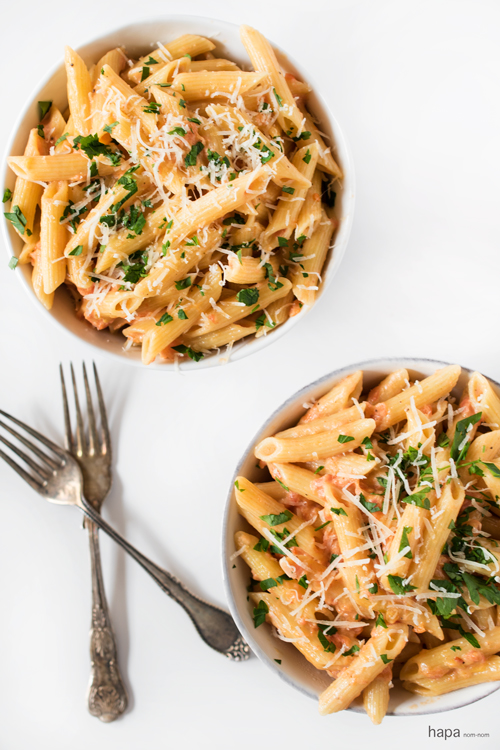 Penne alla Vodka is a fantastic weeknight meal that can be on the table in about 20-25 minutes! It's sure to please everyone.