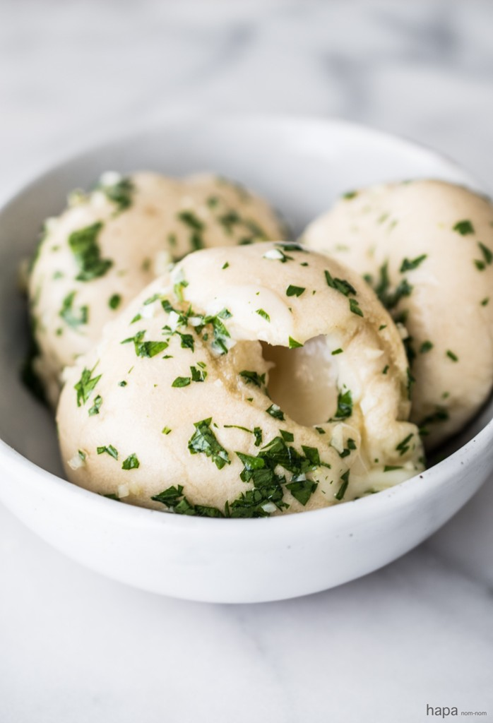One bite of these Cheese Stuffed Garlic Bombs my friends, and you'll be in garlic bread heaven. Talk about wanting to eat all 8 of them - I seriously had to put them down and just away.