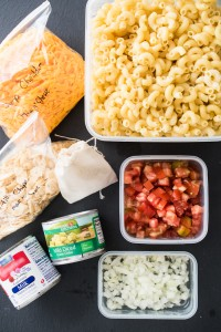 Portion and prep all of your ingredients at home to make for quick and easy campsite cooking