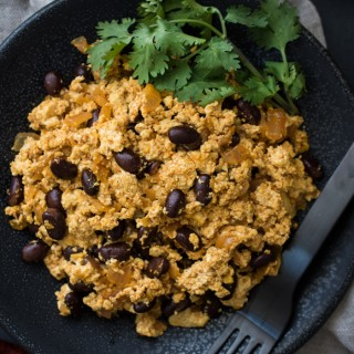 This Spiced Tofu Scramble is flavored with berbere (an Ethiopian spice mix) it's tofu with some serious kick!
