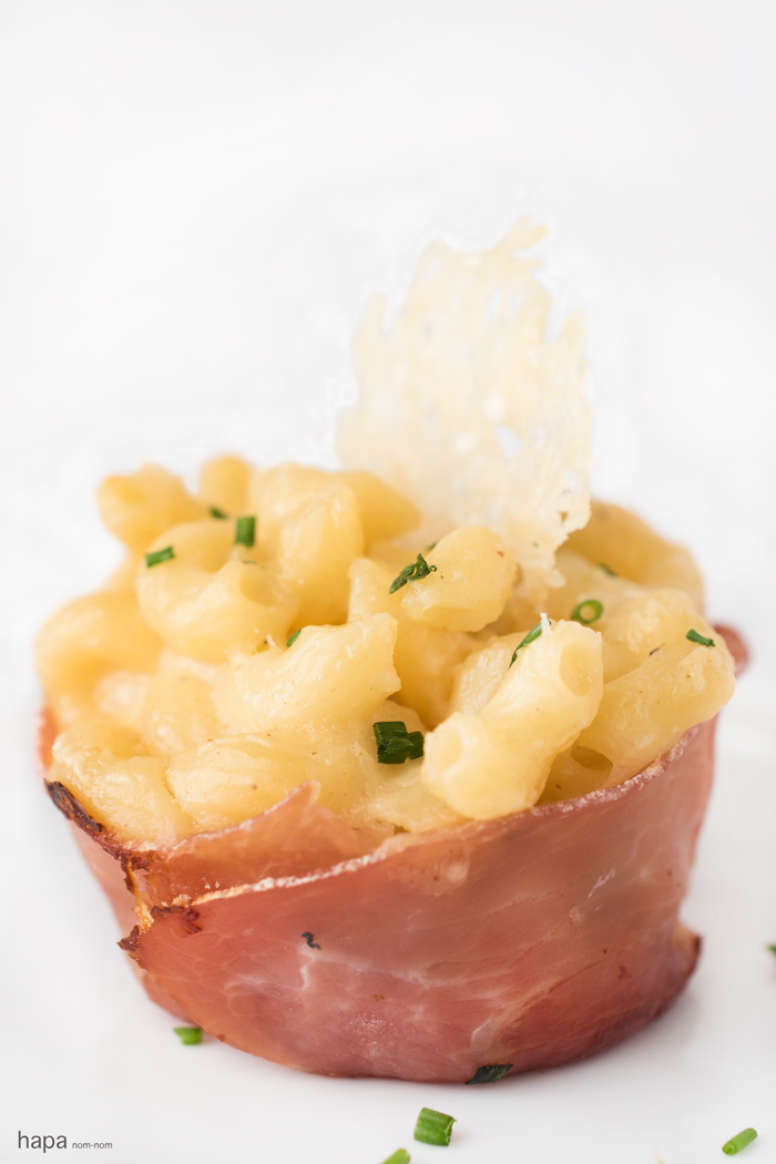 Prosciutto-Wrapped Macaroni And Cheese Cups Recipe — Dishmaps