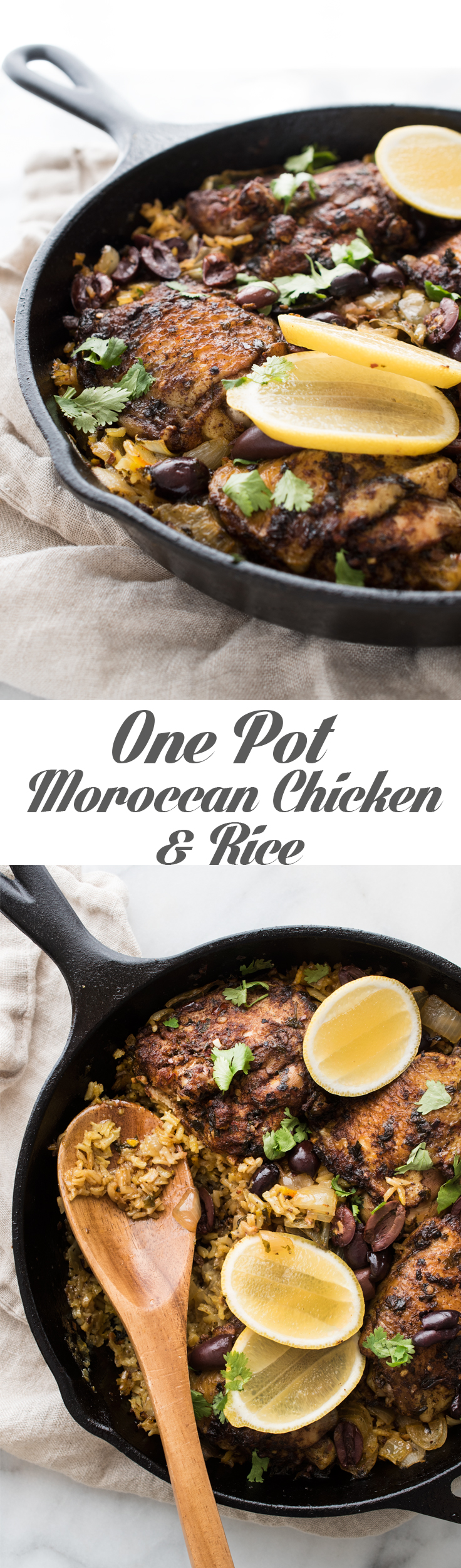 One Pot Moroccan Chicken and Rice - a ton of flavor and minimal clean-up.