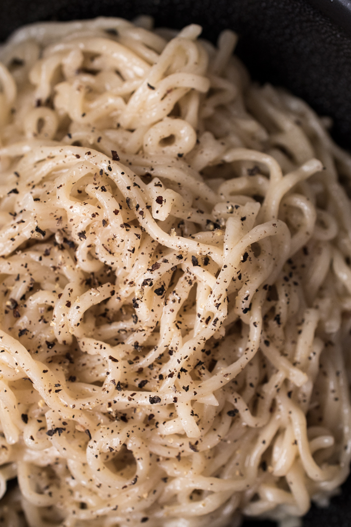 David Chang's Instant Ramen Cacio e Pepe - a genius recipe made in about 10 minutes.