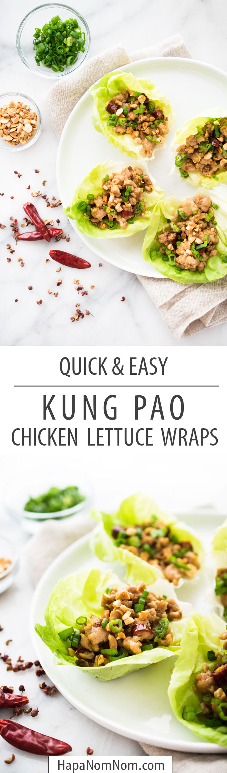 Kung Pao Lettuce Wraps - we like our chicken lettuce!