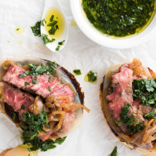 Mini Open-Faced Steak Sandwiches
