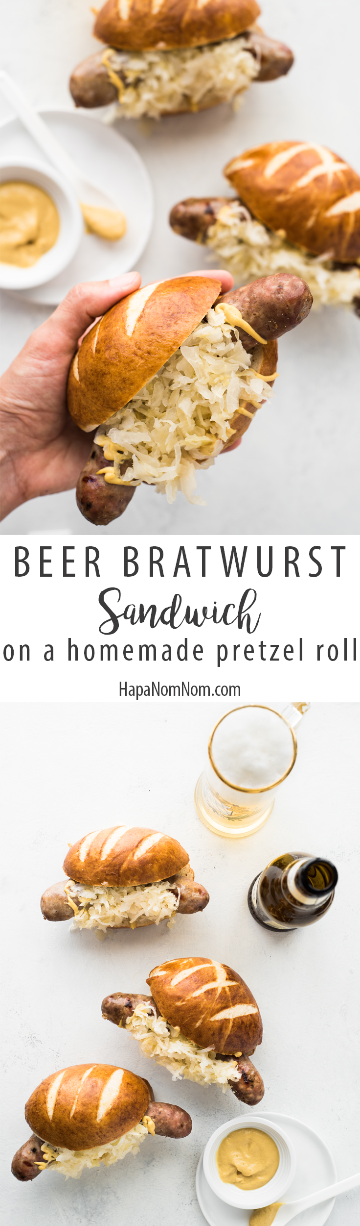 These beer brats are perfect for Oktoberfest, football parties, or just a damn good dinner!